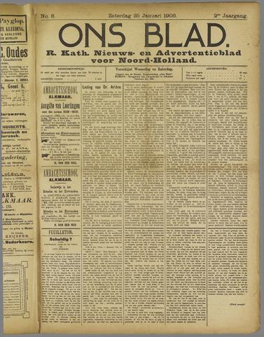Ons Blad : katholiek nieuwsblad voor N-H 1908-01-25