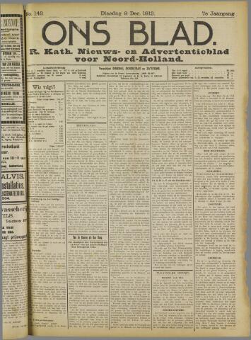 Ons Blad : katholiek nieuwsblad voor N-H 1913-12-09