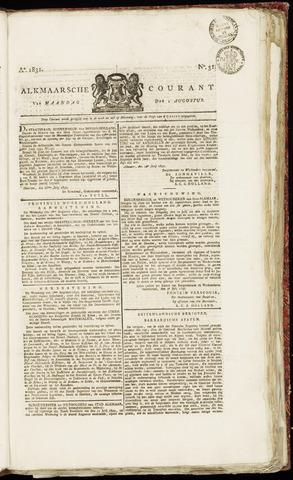Alkmaarsche Courant 1831-08-01