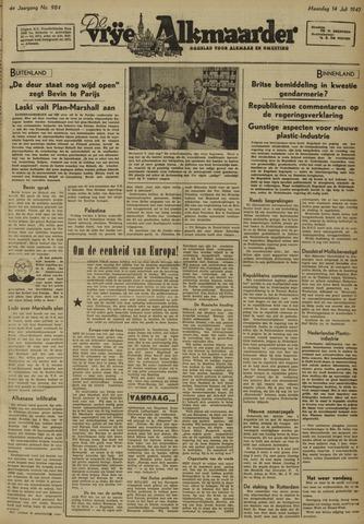 De Vrije Alkmaarder 1947-07-14