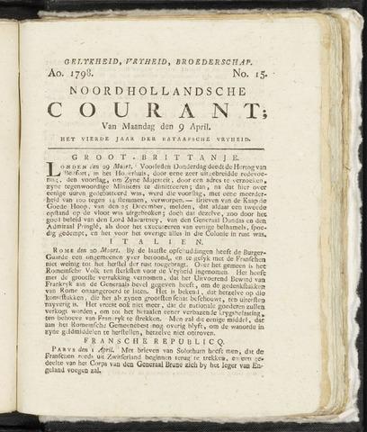 Noordhollandsche Courant 1798-04-09