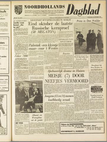 Noordhollands Dagblad : dagblad voor Alkmaar en omgeving 1961-10-18