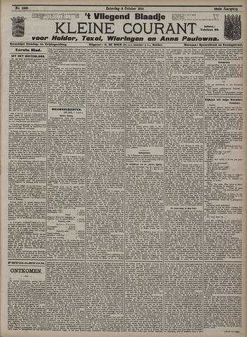 Vliegend blaadje : nieuws- en advertentiebode voor Den Helder 1910-10-08