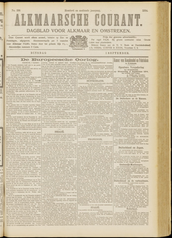 Alkmaarsche Courant 1914-09-01