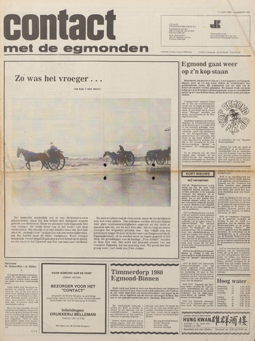 Contact met de Egmonden 1980-06-11