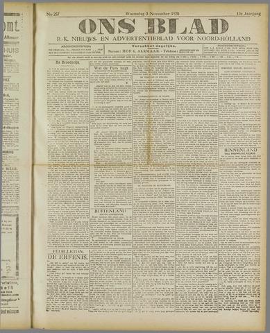 Ons Blad : katholiek nieuwsblad voor N-H 1920-11-03