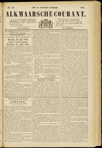 Alkmaarsche Courant 1886-04-11