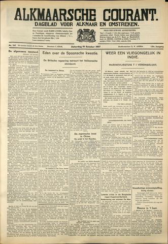 Alkmaarsche Courant 1937-10-16