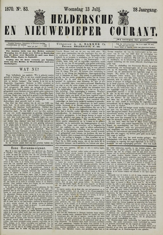 Heldersche en Nieuwedieper Courant 1870-07-13