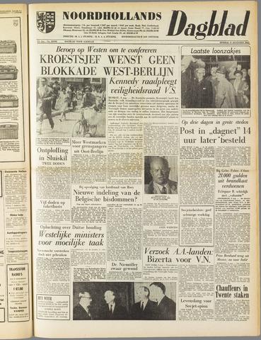 Noordhollands Dagblad : dagblad voor Alkmaar en omgeving 1961-08-08
