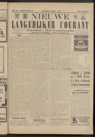 Nieuwe Langedijker Courant 1927-04-05