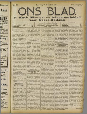 Ons Blad : katholiek nieuwsblad voor N-H 1911-10-07
