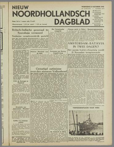 Nieuw Noordhollandsch Dagblad : voor Alkmaar en omgeving 1945-10-31