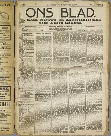 Ons Blad : katholiek nieuwsblad voor N-H 1908-08-15