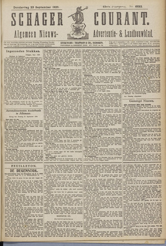 Schager Courant 1920-09-23
