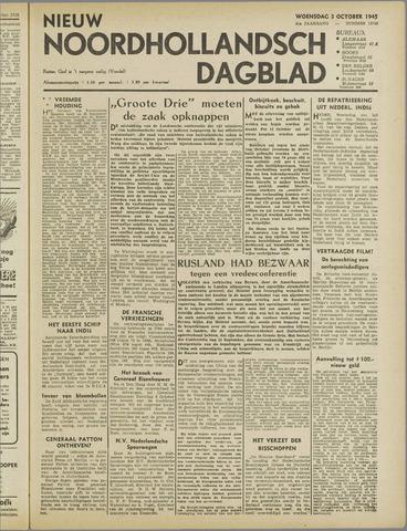Nieuw Noordhollandsch Dagblad : voor Alkmaar en omgeving 1945-10-03