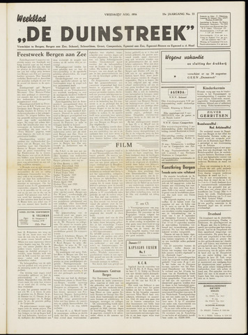 De Duinstreek 1956-08-17