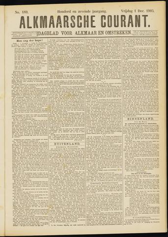 Alkmaarsche Courant 1905-12-01