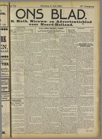 Ons Blad : katholiek nieuwsblad voor N-H 1912-07-02