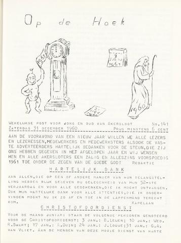 Op De Hoek, weekblad voor Akersloot 1960-12-31