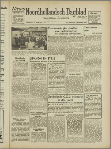 Nieuw Noordhollandsch Dagblad : voor Alkmaar en omgeving 1946-02-16