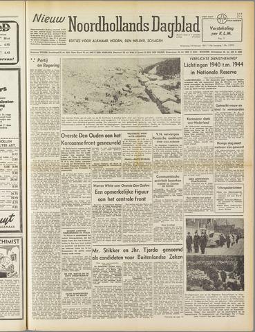 Nieuw Noordhollandsch Dagblad : voor Alkmaar en omgeving 1951-02-14