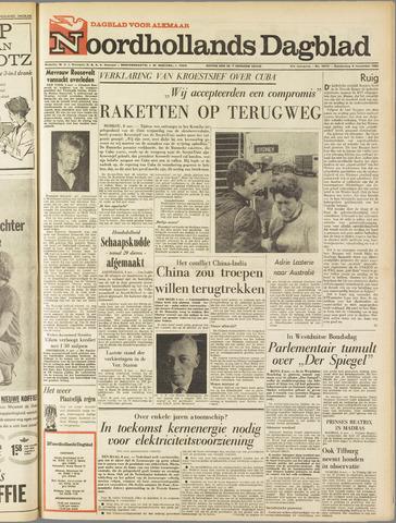 Noordhollands Dagblad : dagblad voor Alkmaar en omgeving 1962-11-08