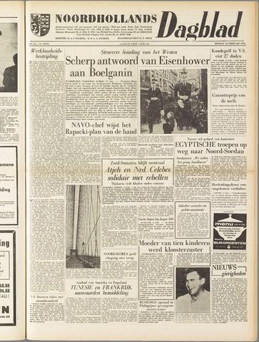 Noordhollands Dagblad : dagblad voor Alkmaar en omgeving 1958-02-18