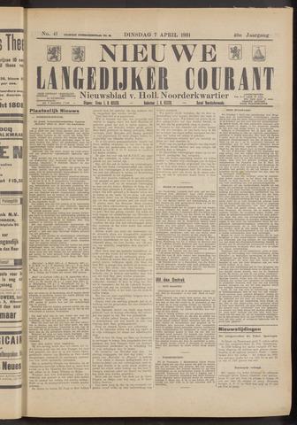 Nieuwe Langedijker Courant 1931-04-07