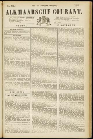 Alkmaarsche Courant 1882-11-17