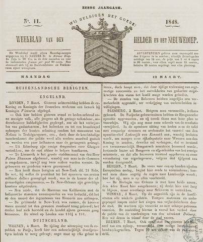 Weekblad van Den Helder en het Nieuwediep 1848-03-13
