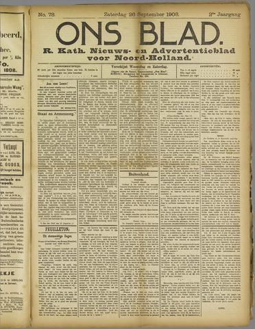 Ons Blad : katholiek nieuwsblad voor N-H 1908-09-26