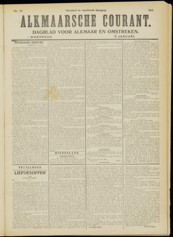 Alkmaarsche Courant 1912-01-31