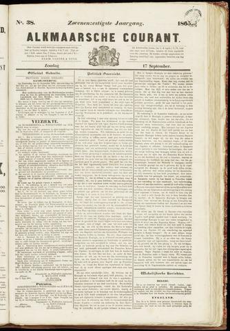 Alkmaarsche Courant 1865-09-17