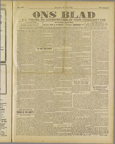 Ons Blad : katholiek nieuwsblad voor N-H 1920-07-10