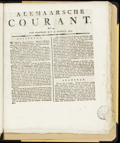 Alkmaarsche Courant 1815-10-30