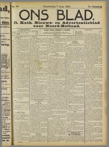 Ons Blad : katholiek nieuwsblad voor N-H 1913-08-07