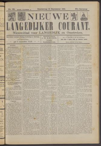 Nieuwe Langedijker Courant 1921-09-15