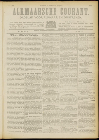 Alkmaarsche Courant 1916-07-10