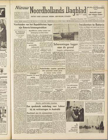 Nieuw Noordhollandsch Dagblad : voor Alkmaar en omgeving 1949-12-12