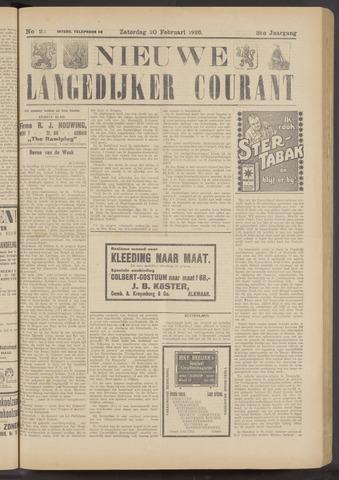 Nieuwe Langedijker Courant 1926-02-20