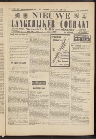 Nieuwe Langedijker Courant 1931-01-17