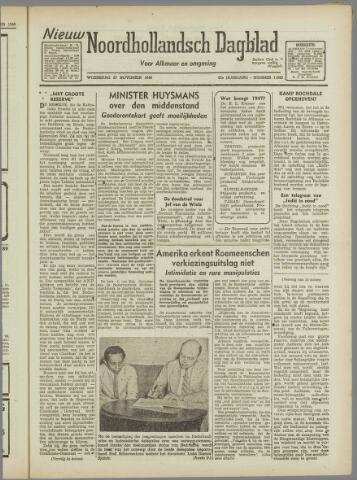 Nieuw Noordhollandsch Dagblad : voor Alkmaar en omgeving 1946-11-27