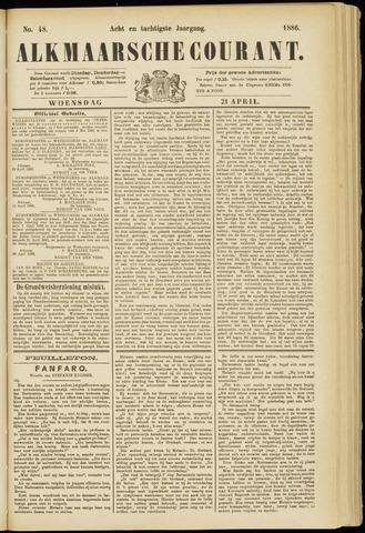 Alkmaarsche Courant 1886-04-21