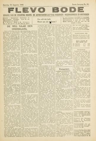 Flevo-bode: nieuwsblad voor Wieringen-Wieringermeer 1946-08-24