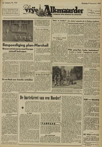De Vrije Alkmaarder 1947-09-08