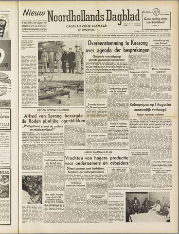 Nieuw Noordhollandsch Dagblad : voor Alkmaar en omgeving 1951-07-27