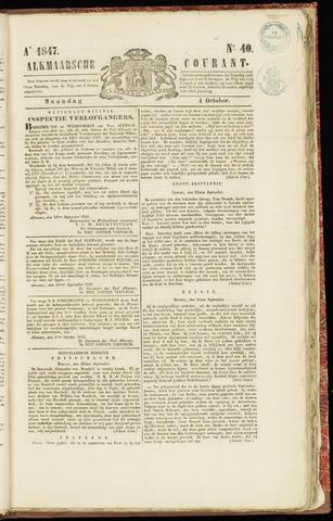 Alkmaarsche Courant 1847-10-04