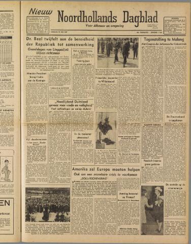 Nieuw Noordhollandsch Dagblad : voor Alkmaar en omgeving 1947-05-20