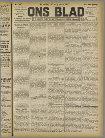Ons Blad : katholiek nieuwsblad voor N-H 1917-08-25